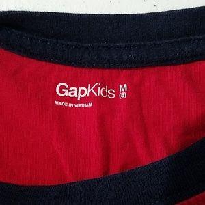 GAP Shirts & Tops - Gap kids boys 8 Red Dark Blue long sleeve